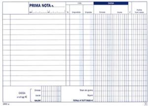 BLOCCO PRIMANOTA CASSA AUTORIC.50/50 CARTA CH.