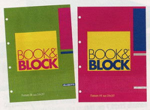 "BLOCCO QUAD.""BOOK&BLOCK""  FORM. 21X29,7"